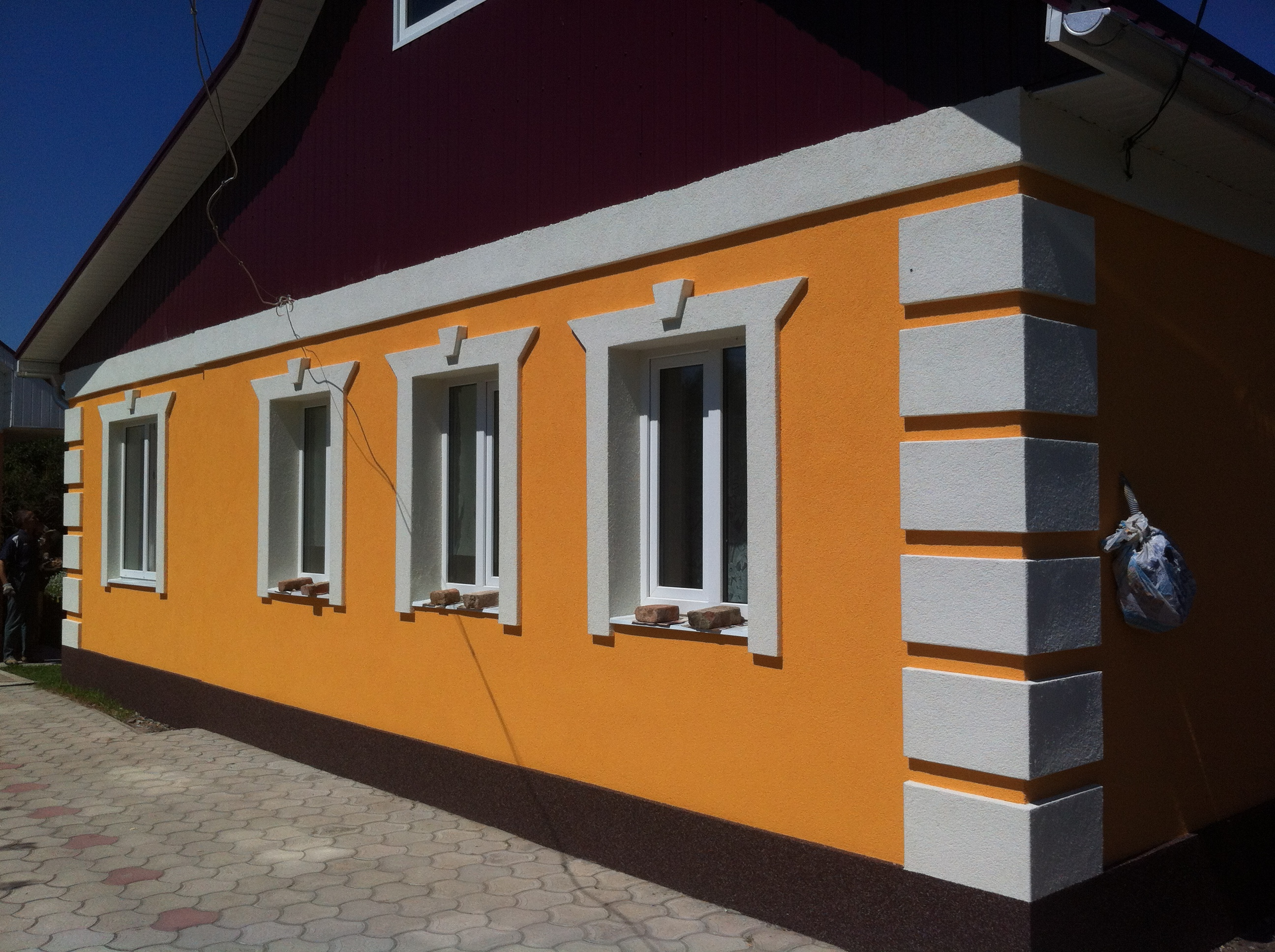 Дизайн фасада из пенопласта фото